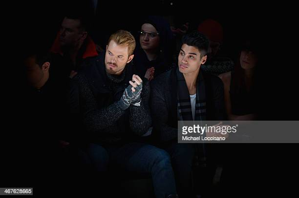 Actor Kellan Lutz and Siva Kaneswaran attend Black Sail By Nautica fashion show during MercedesBenz Fashion Week Fall 2014 at The Salon at Lincoln...
