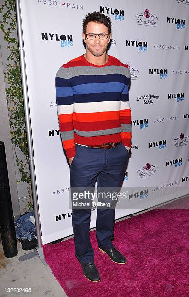 Actor Kellan Lutz arrives at Nylon magazine's release party for their November issue at The Beverly restaurant on November 10 2011 in West Hollywood...