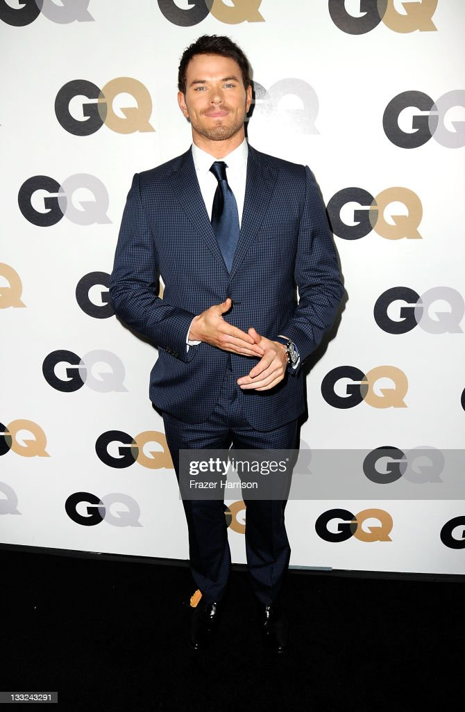 Actor <a gi-track='captionPersonalityLinkClicked' href=/galleries/search?phrase=Kellan+Lutz&family=editorial&specificpeople=683287 ng-click='$event.stopPropagation()'>Kellan Lutz</a> arrives at the 16th Annual GQ 'Men Of The Year' Party at Chateau Marmont on November 17, 2011 in Los Angeles, California.