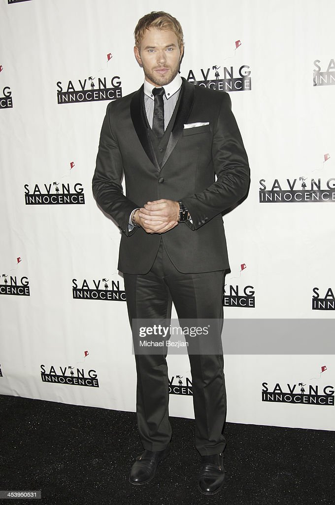 Actor Kellan Lutz arrives at the 2nd Annual Saving Innocence Gala Hosted By Kellan Lutz And Keke Palmer - Arrivals at The Crossing on December 5, 2013 in Los Angeles, California.