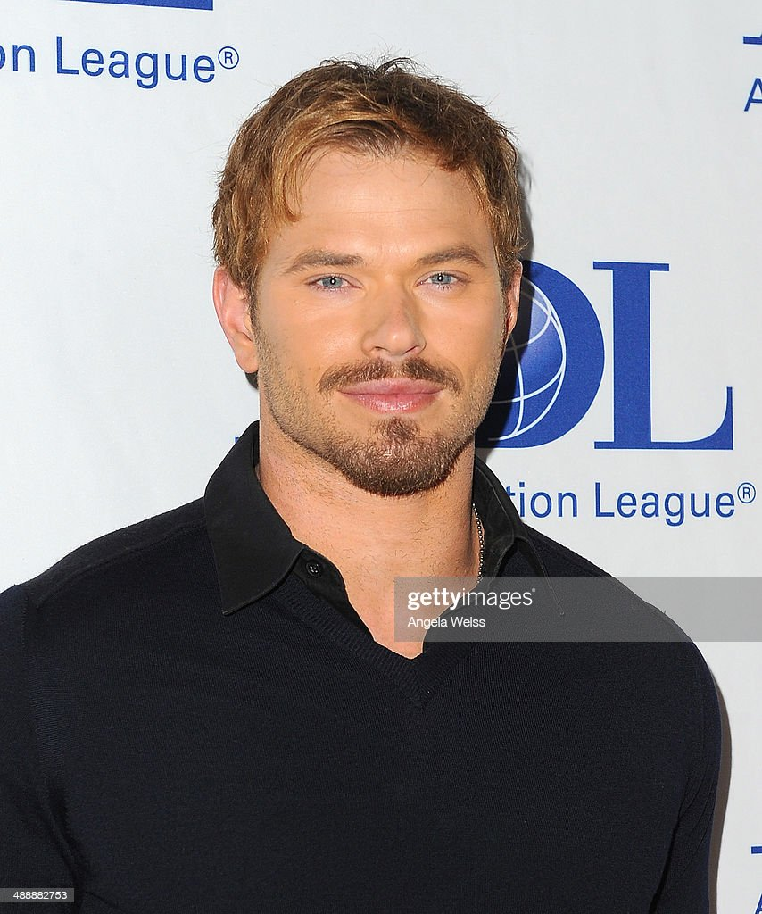 Actor <a gi-track='captionPersonalityLinkClicked' href=/galleries/search?phrase=Kellan+Lutz&family=editorial&specificpeople=683287 ng-click='$event.stopPropagation()'>Kellan Lutz</a> arrives at the Anti-Defamation League entertainment industry dinner honoring Roma Downey and Mark Burnett at The Beverly Hilton Hotel on May 8, 2014 in Beverly Hills, California.