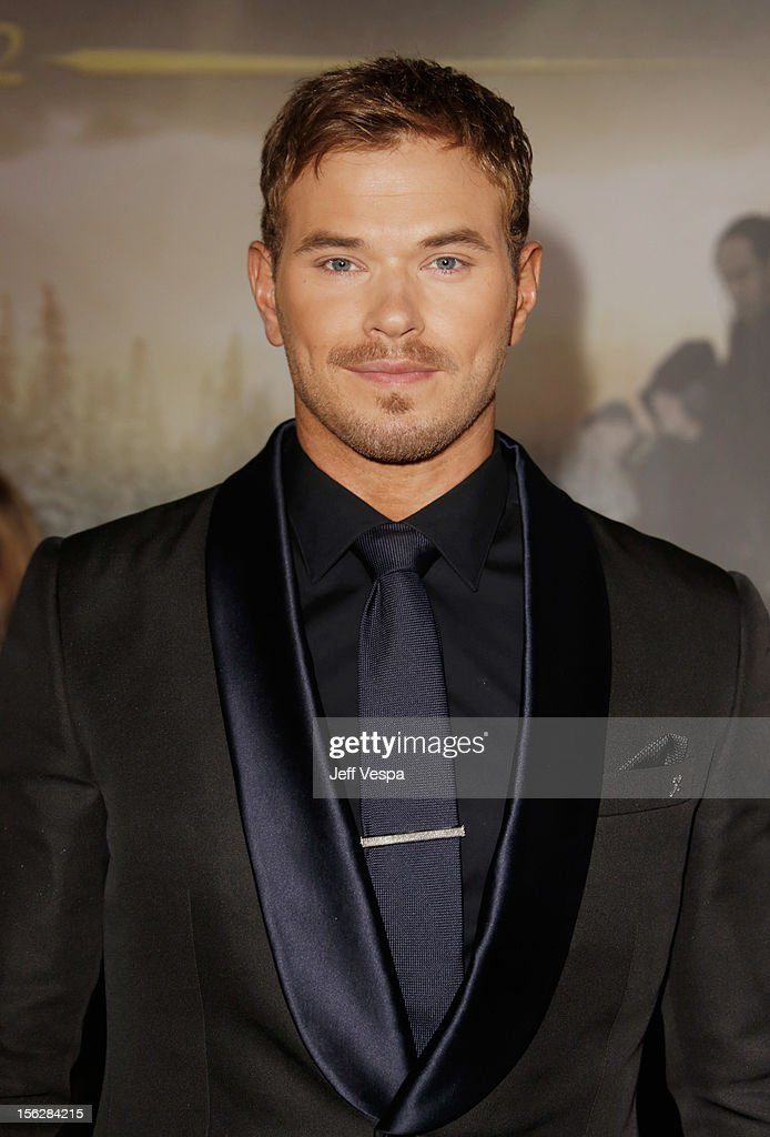 Actor <a gi-track='captionPersonalityLinkClicked' href=/galleries/search?phrase=Kellan+Lutz&family=editorial&specificpeople=683287 ng-click='$event.stopPropagation()'>Kellan Lutz</a> arrives at 'The Twilight Saga: Breaking Dawn - Part 2' Los Angeles premiere at Nokia Theatre L.A. Live on November 12, 2012 in Los Angeles, California.