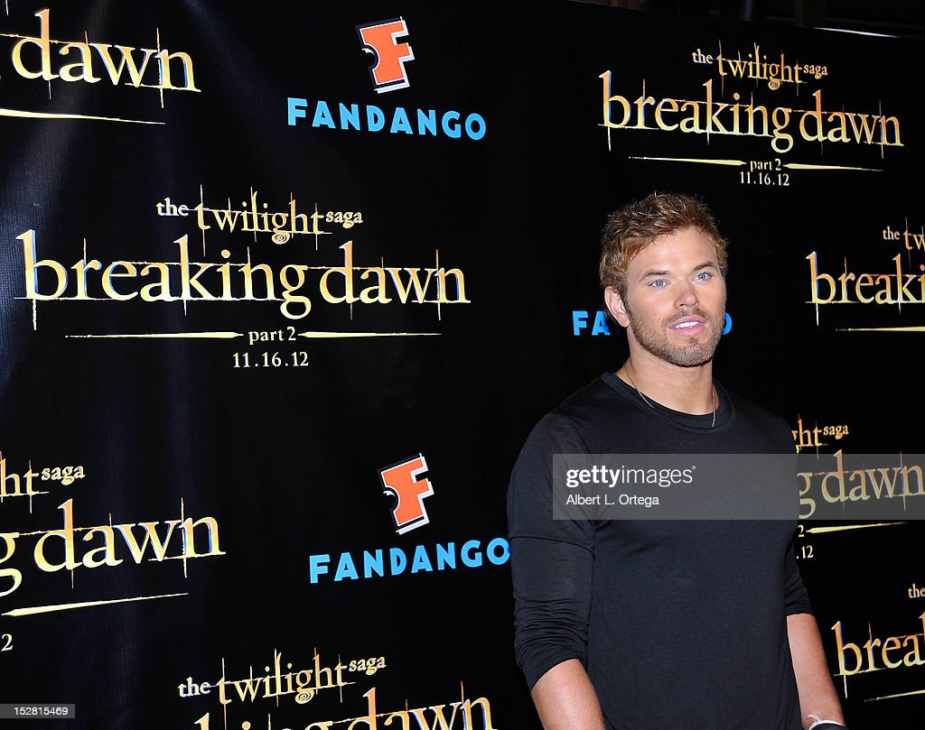 Actor <a gi-track='captionPersonalityLinkClicked' href=/galleries/search?phrase=Kellan+Lutz&family=editorial&specificpeople=683287 ng-click='$event.stopPropagation()'>Kellan Lutz</a> arrives for Summit Entertainment's 'The Twilight Saga: Breaking Dawn - PART 2 VIP - Comic-Con Celebration - Arrivals held at The Hard Rock Hotel on July 11, 2012 in San Diego, California.
