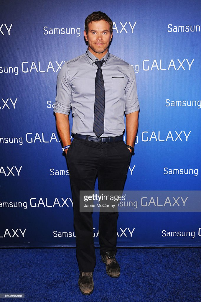 "Actor <a gi-track='captionPersonalityLinkClicked' href=/galleries/search?phrase=Kellan+Lutz&family=editorial&specificpeople=683287 ng-click='$event.stopPropagation()'>Kellan Lutz</a> at the Samsung Galaxy ""Shangri-La"" Party on February 2, 2013 in New Orleans, Louisiana."