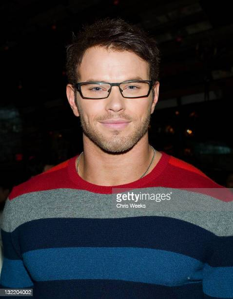 Actor Kellan Lutz attends a party for Nylon magazine's November issue with cover star Kellan Lutz at The Beverly on November 10 2011 in Los Angeles...