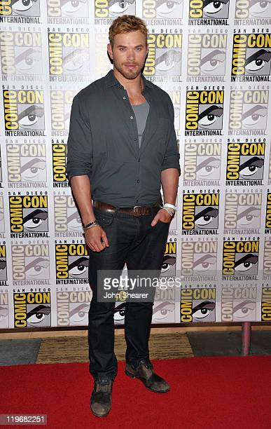 Actor Kellan Lutz attends 'Immortals' Press Line during ComicCon 2011 on July 23 2011 in San Diego California