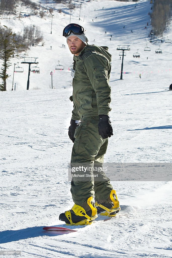 Actor Kellan Lutz attends Oakley Learn To Ride With AOL at Sundance on January 18, 2014 in Park City, Utah.