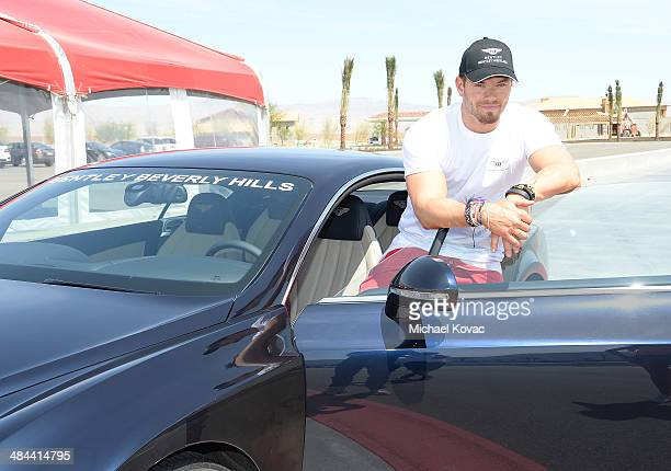 Actor Kellan Lutz attends Oakley Learn To Ride With O'Gara Coach Bentley Beverly Hills and Bentley Westlake At Thermal Club on April 10 2014 in...