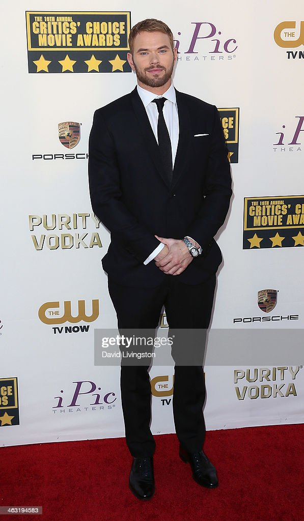 Actor Kellan Lutz attends the 19th Annual Critics' Choice Movie Awards at Barker Hangar on January 16, 2014 in Santa Monica, California.