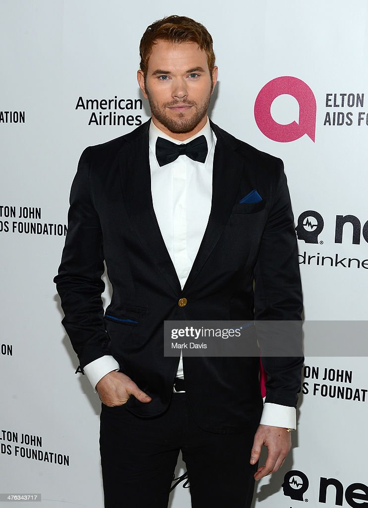 Actor <a gi-track='captionPersonalityLinkClicked' href=/galleries/search?phrase=Kellan+Lutz&family=editorial&specificpeople=683287 ng-click='$event.stopPropagation()'>Kellan Lutz</a> attends the 22nd Annual Elton John AIDS Foundation's Oscar Viewing Party on March 2, 2014 in Los Angeles, California.