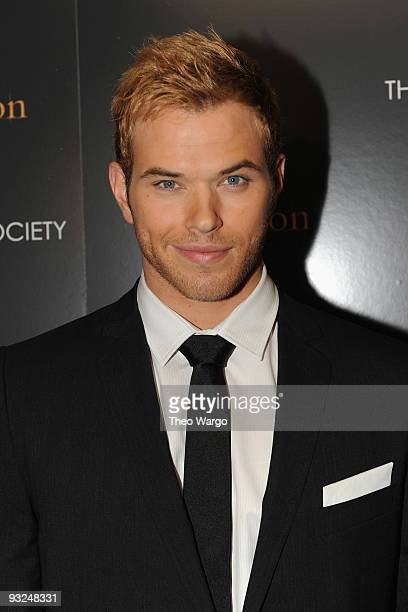 Actor Kellan Lutz attends the Cinema Society DG screening of 'The Twilight Saga New Moon' at Landmark's Sunshine Cinema on November 19 2009 in New...