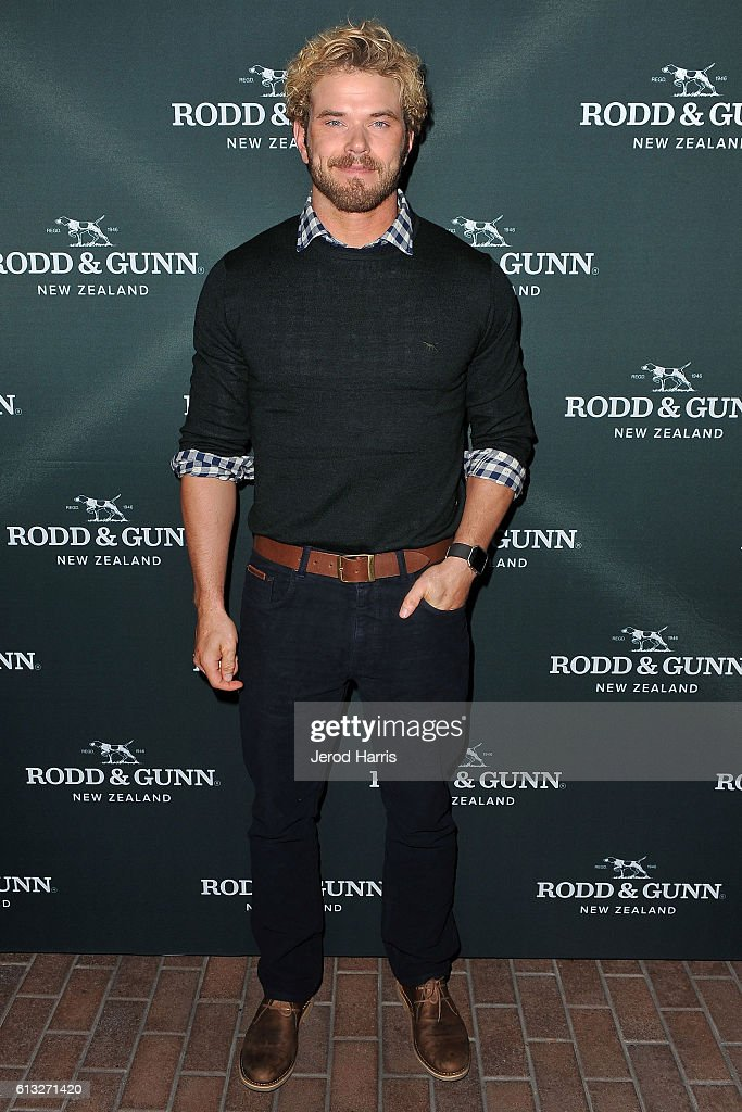 Actor Kellan Lutz attends the opening of Rodd and Gunn U.S. Flagship Store at Fashion Island Shopping Center on October 7, 2016 in Newport Beach, California.