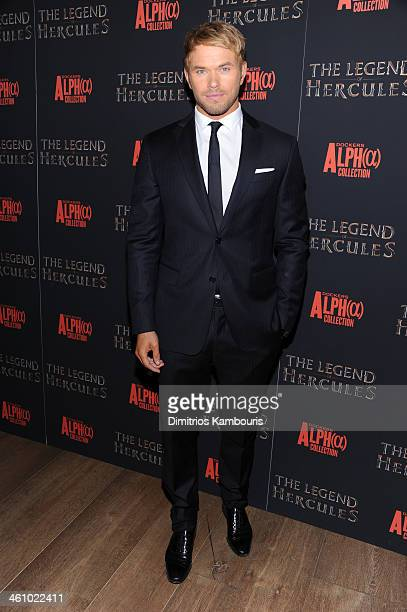 Actor Kellan Lutz attends the 'The Legend Of Hercules' premiere at the Crosby Street Hotel on January 6 2014 in New York City