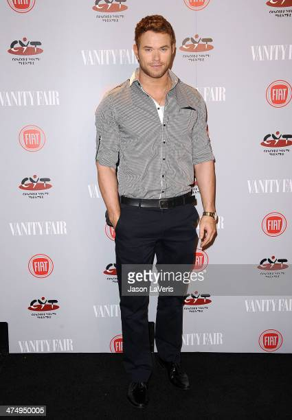 Actor Kellan Lutz attends the Vanity Fair Campaign Young Hollywood party at No Vacancy on February 25 2014 in Los Angeles California