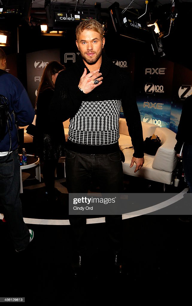 Actor Kellan Lutz attends the Z100's Artist Gift Lounge presented by AXE at Z100's Jingle Ball 2013 at Madison Square Garden on December 13, 2013 in New York City.