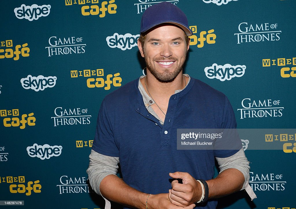 Actor <a gi-track='captionPersonalityLinkClicked' href=/galleries/search?phrase=Kellan+Lutz&family=editorial&specificpeople=683287 ng-click='$event.stopPropagation()'>Kellan Lutz</a> attends WIRED Cafe At Comic-Con held at Palm Terrace at the Omni Hotel on July 13, 2012 in San Diego, California.