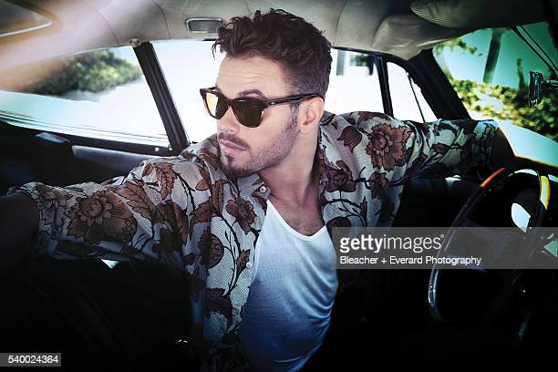 Actor Kellan Lutz is photographed for August Man on August 21 2014 in Los Angeles California Styling Erin McSherry Shirt by Burberry Prorsum...