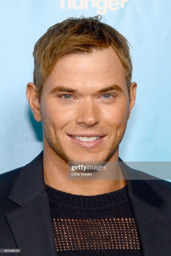 Actor <a gi-track='captionPersonalityLinkClicked' href=/galleries/search?phrase=Kellan+Lutz&family=editorial&specificpeople=683287 ng-click='$event.stopPropagation()'>Kellan Lutz</a> joins mPowering Action, a global mobile youth movement at Grammy Week launch, featuring performances by Timbaland and Avicii at The Conga Room at L.A. Live on February 8, 2013 in Los Angeles, California.