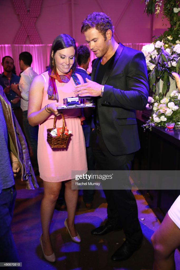 Actor Kellan Lutz makes a donation during PATHWAY TO THE CURE A Fundraiser Benefiting Susan G Komen presented by Pathway Genomics Relativity Media...