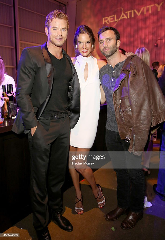 Actor Kellan Lutz model Alessandra Ambrosio and fiance Jamie Mazur attend PATHWAY TO THE CURE A Fundraiser Benefiting Susan G Komen presented by...