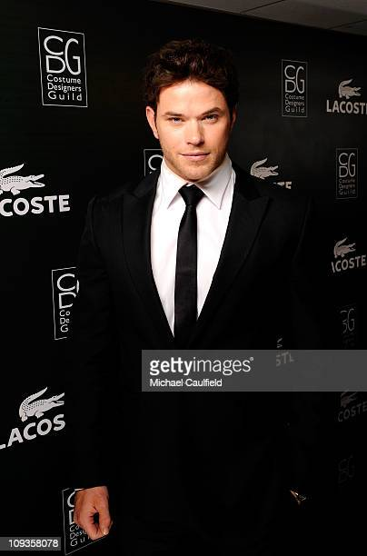 Actor Kellan Lutz poses at the 13th Annual Costume Designers Guild Awards with presenting sponsor Lacoste held at The Beverly Hilton hotel on...
