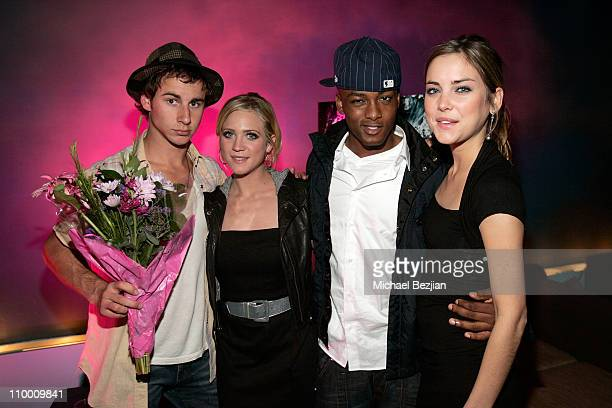 Actor Kelly Blatz actress Brittany Snow actor Collins Pennie and actress Jessica Stroup attend the Prom Night Realease Party with Cast and Crew on...