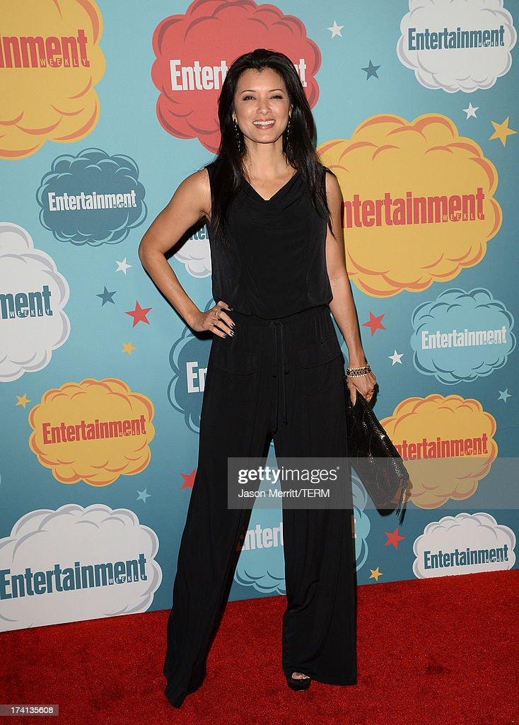 Actor <a gi-track='captionPersonalityLinkClicked' href=/galleries/search?phrase=Kelly+Hu&family=editorial&specificpeople=202918 ng-click='$event.stopPropagation()'>Kelly Hu</a> attends Entertainment Weekly's Annual Comic-Con Celebration at Float at Hard Rock Hotel San Diego on July 20, 2013 in San Diego, California.