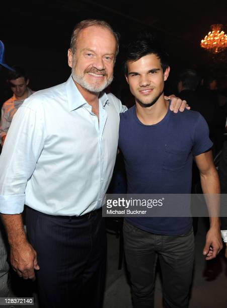 Actor Kelsey Grammer and actor Taylor Lautner attend the after party for the STARZ Los Angeles Premiere Event for Original Series 'Boss' Starring...