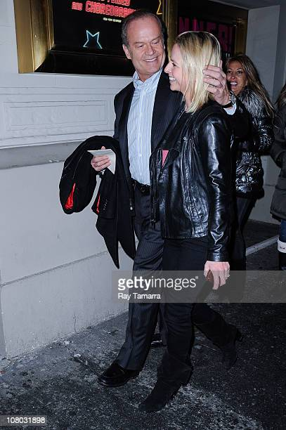 Actor Kelsey Grammer and fiancee Katye Walsh enter the Longacre Theater on January 13 2011 in New York City