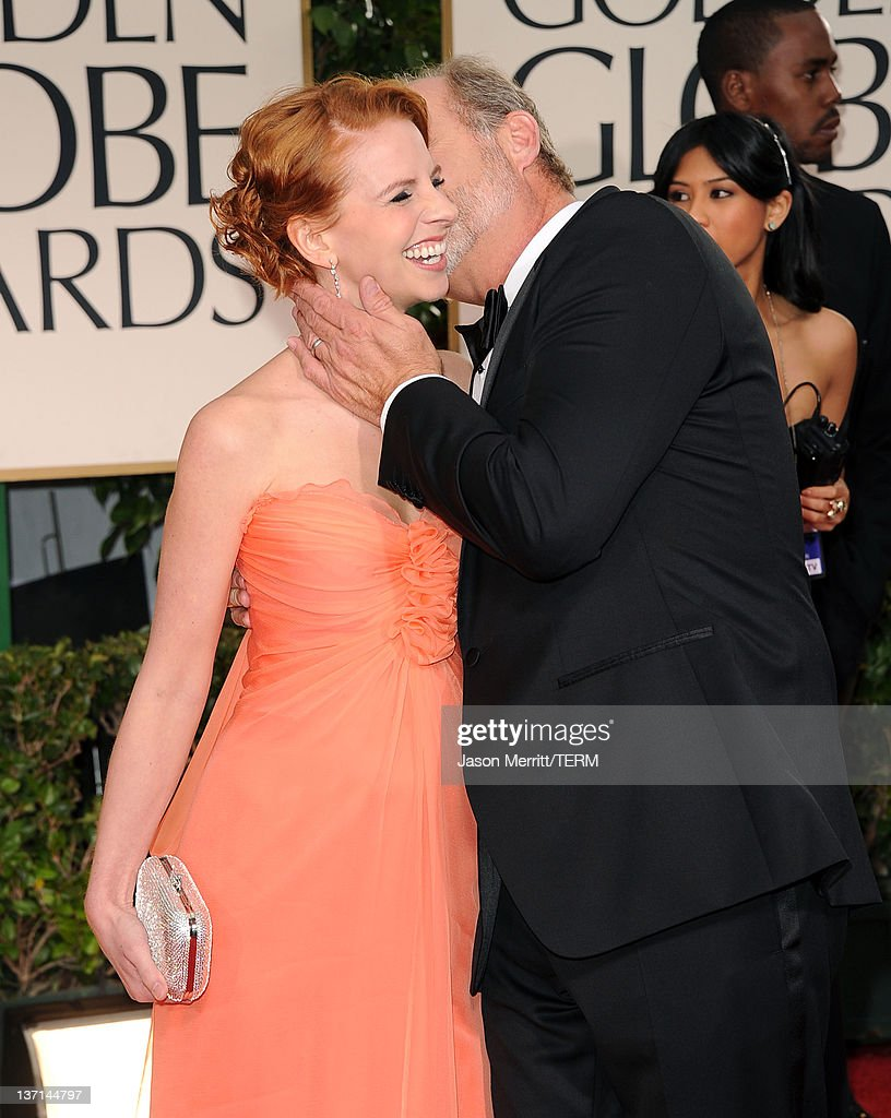 Actor <a gi-track='captionPersonalityLinkClicked' href=/galleries/search?phrase=Kelsey+Grammer&family=editorial&specificpeople=210500 ng-click='$event.stopPropagation()'>Kelsey Grammer</a> (R) and <a gi-track='captionPersonalityLinkClicked' href=/galleries/search?phrase=Kayte+Walsh&family=editorial&specificpeople=7285479 ng-click='$event.stopPropagation()'>Kayte Walsh</a> arrive at the 69th Annual Golden Globe Awards held at the Beverly Hilton Hotel on January 15, 2012 in Beverly Hills, California.