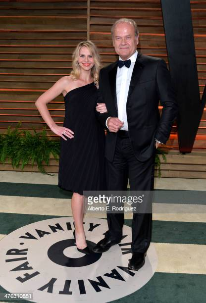 Actor Kelsey Grammer and Kayte Walsh attends the 2014 Vanity Fair Oscar Party hosted by Graydon Carter on March 2 2014 in West Hollywood California