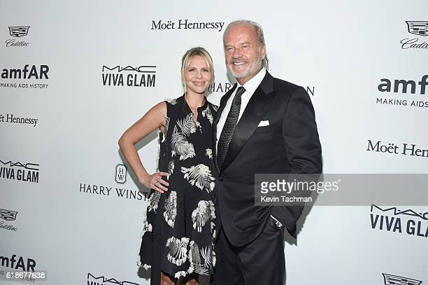 Actor Kelsey Grammer and producer Kayte Walsh attend amfAR's Inspiration Gala at Milk Studios on October 27 2016 in Hollywood California