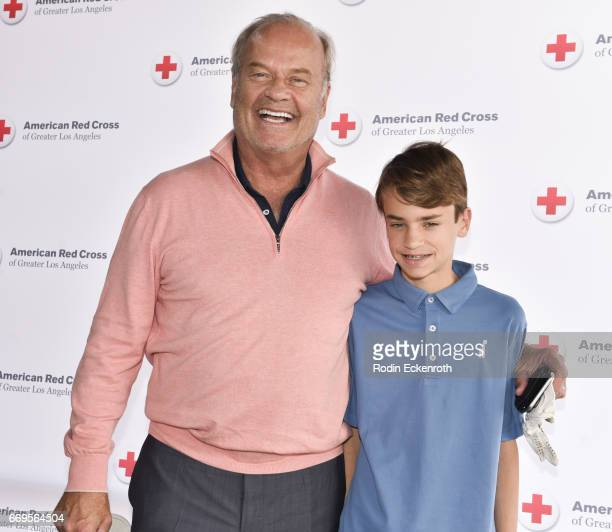 Actor Kelsey Grammer and son attend American Red Cross Los Angeles Region's 4th Annual Celebrity Golf Tournament at Lakeside Golf Club on April 17...