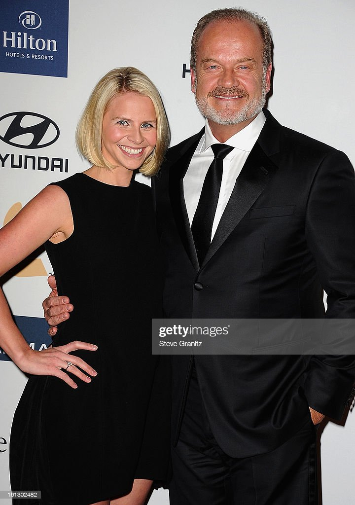 Actor <a gi-track='captionPersonalityLinkClicked' href=/galleries/search?phrase=Kelsey+Grammer&family=editorial&specificpeople=210500 ng-click='$event.stopPropagation()'>Kelsey Grammer</a> (R) and wife <a gi-track='captionPersonalityLinkClicked' href=/galleries/search?phrase=Kayte+Walsh&family=editorial&specificpeople=7285479 ng-click='$event.stopPropagation()'>Kayte Walsh</a> arrive at the 55th Annual GRAMMY Awards Pre-GRAMMY Gala and Salute to Industry Icons honoring L.A. Reid held at The Beverly Hilton on February 9, 2013 in Los Angeles, California.