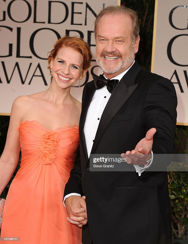 Actor Kelsey Grammer (R) and wife Kayte Walsh arrives at the 69th Annual Golden Globe Awards at The Beverly Hilton hotel on January 15, 2012 in Beverly Hills, California.
