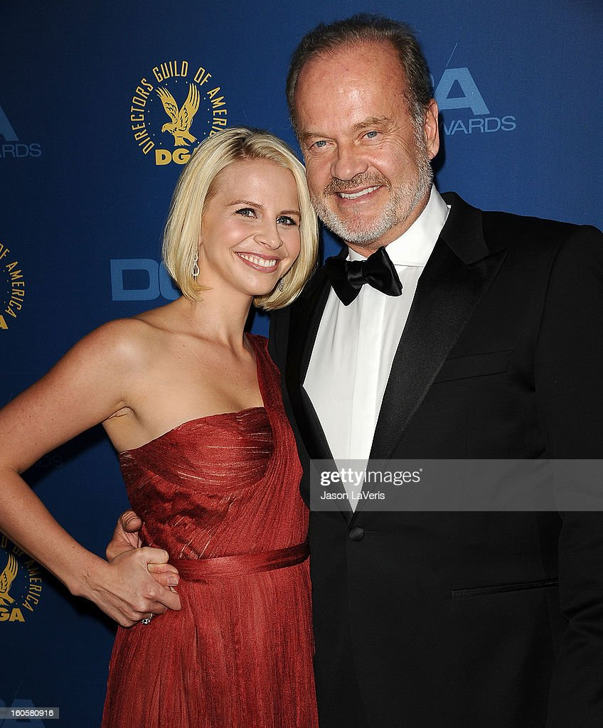 Actor <a gi-track='captionPersonalityLinkClicked' href=/galleries/search?phrase=Kelsey+Grammer&family=editorial&specificpeople=210500 ng-click='$event.stopPropagation()'>Kelsey Grammer</a> (R) and wife <a gi-track='captionPersonalityLinkClicked' href=/galleries/search?phrase=Kayte+Walsh&family=editorial&specificpeople=7285479 ng-click='$event.stopPropagation()'>Kayte Walsh</a> attend the 65th annual Directors Guild Of America Awards at The Ray Dolby Ballroom at Hollywood & Highland Center on February 2, 2013 in Hollywood, California.