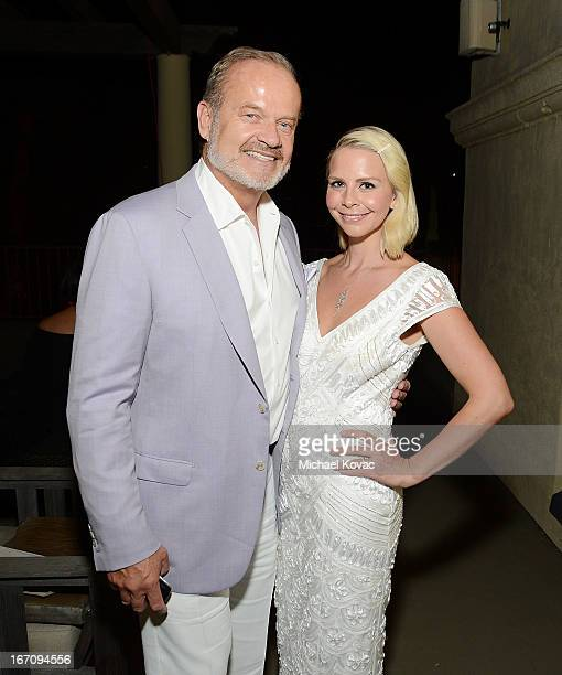 Actor Kelsey Grammer and wife Kayte Walsh attend the Sue Wong Fall 2013 Great Gatsby Collection Unveiling and Birthday Celebration on April 19 2013...