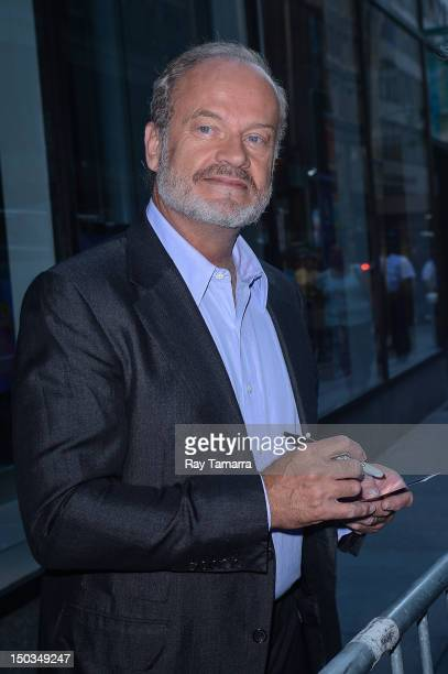 Actor Kelsey Grammer leaves the 'Today Show' taping at the NBC Rockefeller Center Studios on August 16 2012 in New York City