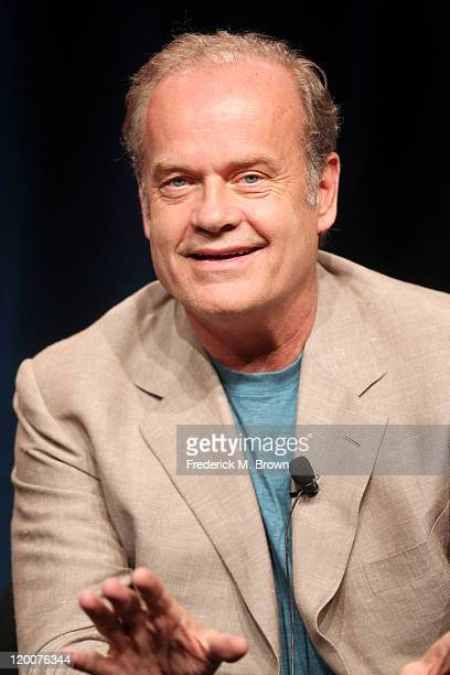 Actor Kelsey Grammer speaks during the 'Boss' panel during the Starz portion of the 2011 Summer TCA Tour held at the Beverly Hilton Hotel on July 29...