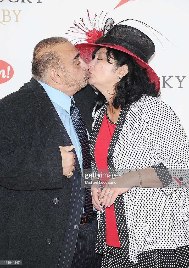 Actor <a gi-track='captionPersonalityLinkClicked' href=/galleries/search?phrase=Ken+Davitian&family=editorial&specificpeople=3970433 ng-click='$event.stopPropagation()'>Ken Davitian</a> and wife Ellen Davitian attend the 137th Kentucky Derby at Churchill Downs on May 7, 2011 in Louisville, Kentucky.