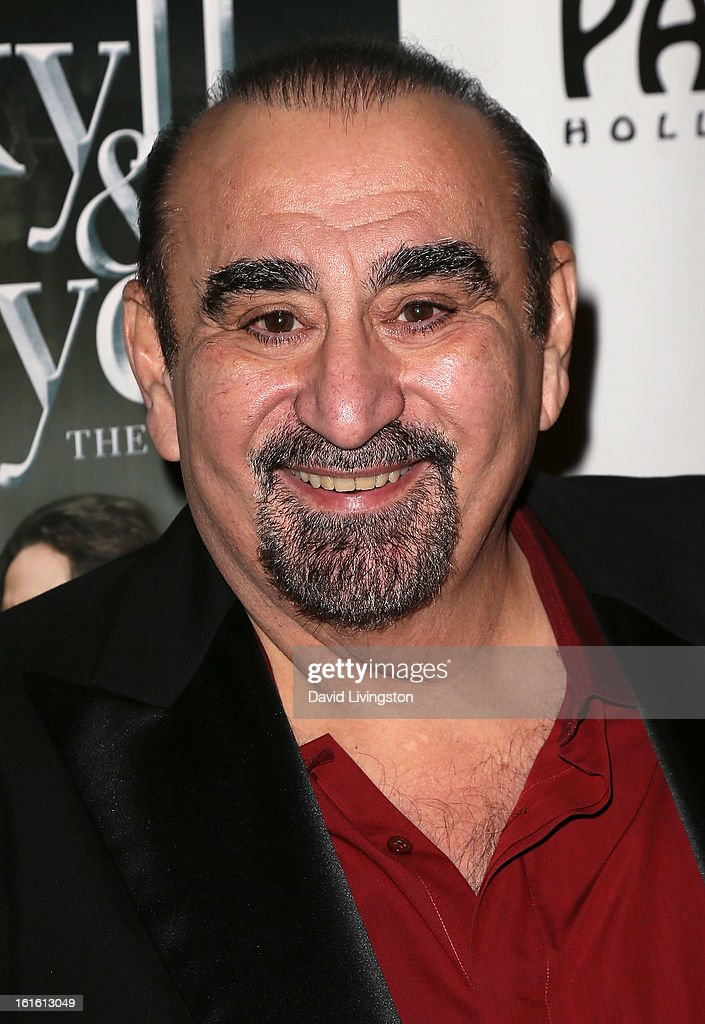 Actor <a gi-track='captionPersonalityLinkClicked' href=/galleries/search?phrase=Ken+Davitian&family=editorial&specificpeople=3970433 ng-click='$event.stopPropagation()'>Ken Davitian</a> attends the opening night of 'Jekyll & Hyde' at the Pantages Theatre on February 12, 2013 in Hollywood, California.
