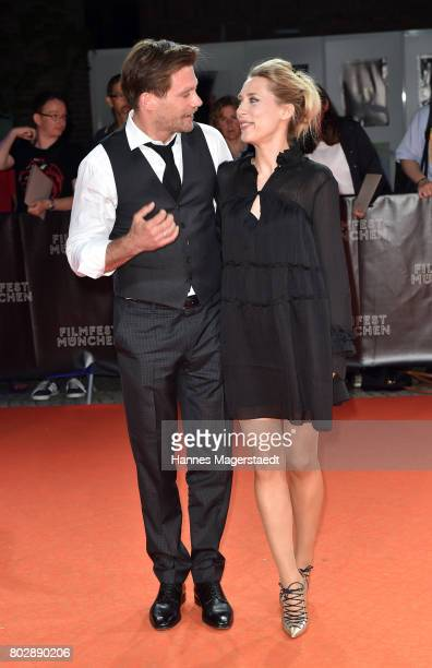 Actor Ken Duken and his wife Marisa Leonie Bach attend the 'Berlin Fallen' Premiere during Munich Film Festival 2017 at Gasteig on June 28 2017 in...