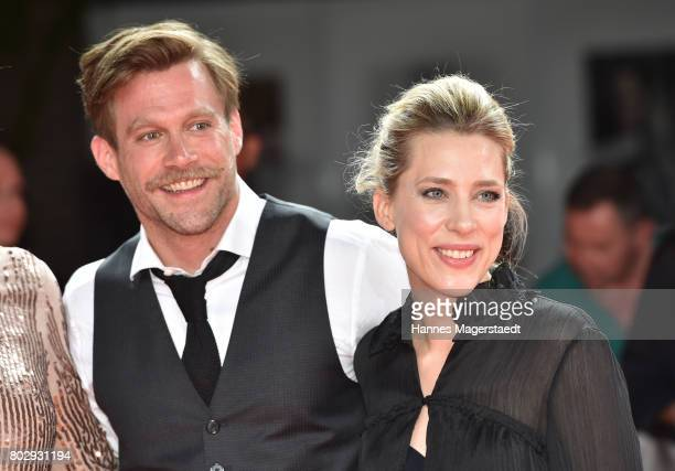 Actor Ken Duken and his wife Marisa Leonie Bach attend the 'Berlin Falling' Premiere during Munich Film Festival 2017 at Gasteig on June 28 2017 in...