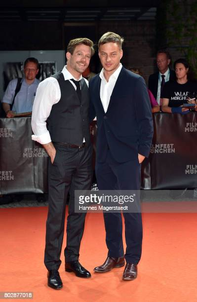 Actor Ken Duken and Tom Wlaschiha attend the 'Berlin Fallen' Premiere during Munich Film Festival 2017 at Gasteig on June 28 2017 in Munich Germany