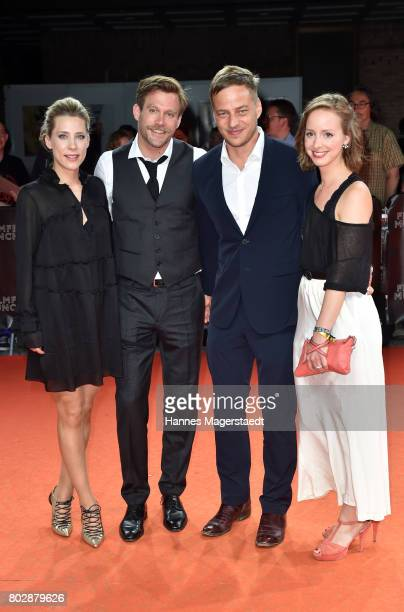 Actor Ken Duken his wife Marisa Leonie Bach Amelie PlaasLink and Tom Wlaschiha attend the 'Berlin Fallen' Premiere during Munich Film Festival 2017...