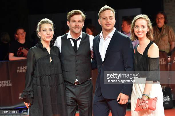 Actor Ken Duken his wife Marisa Leonie Bach Amelie PlaasLink and Tom Wlaschiha attend the 'Berlin Falling' Premiere during Munich Film Festival 2017...