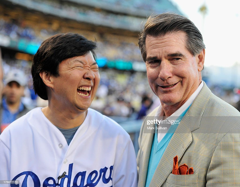 Actor <a gi-track='captionPersonalityLinkClicked' href=/galleries/search?phrase=Ken+Jeong&family=editorial&specificpeople=4195975 ng-click='$event.stopPropagation()'>Ken Jeong</a> (L) and former Dodger player <a gi-track='captionPersonalityLinkClicked' href=/galleries/search?phrase=Steve+Garvey&family=editorial&specificpeople=210829 ng-click='$event.stopPropagation()'>Steve Garvey</a> before the game between the Los Angeles Dodgers and the New York Yankees at Dodger Stadium on July 30, 2013 in Los Angeles, California.