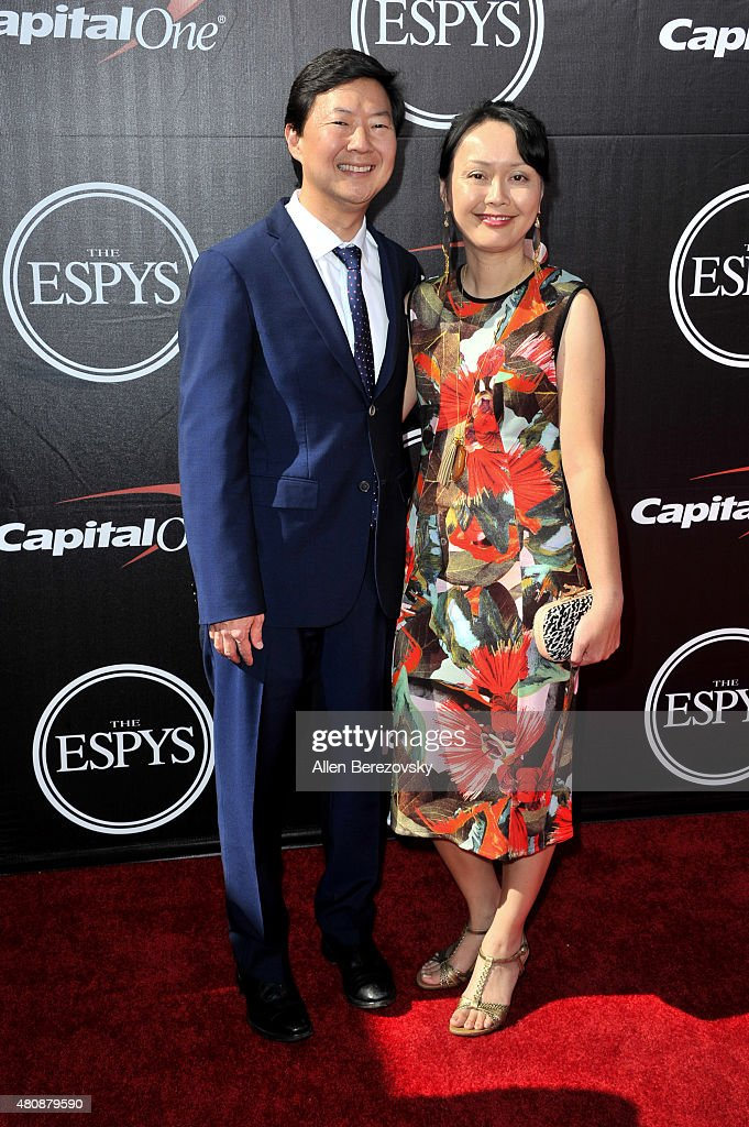 Actor Ken Jeong (L) and Tran Jeong arrive at the 2015 ESPYS at Microsoft Theater on July 15, 2015 in Los Angeles, California.