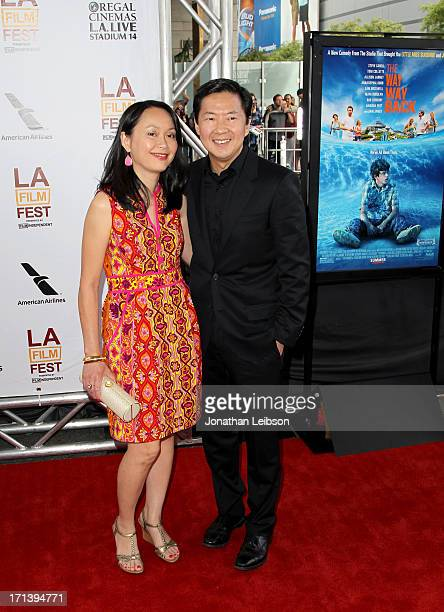 Actor Ken Jeong and Tran Jeong attend 'The Way Way Back' premiere sponsored by DIRECTV during the 2013 Los Angeles Film Festival at Regal Cinemas LA...