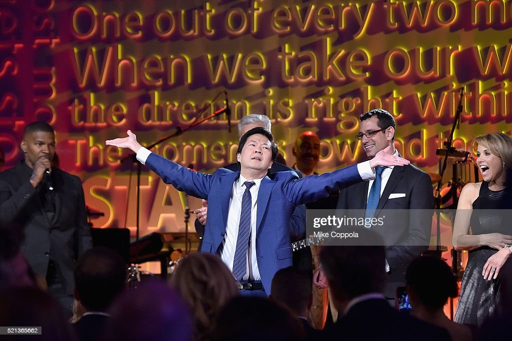 Actor Ken Jeong appears onstage during Stand Up To Cancer's New York Standing Room Only presented by Entertainment Industry Foundation with donors...